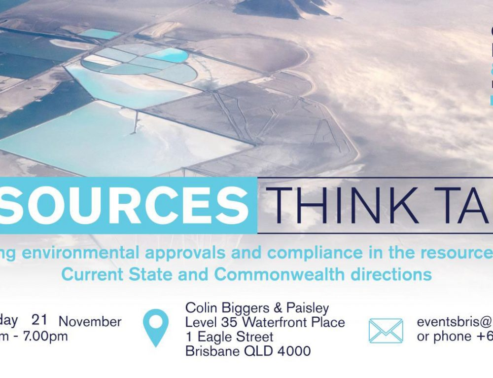 Romin Nejad and Mark Breitfuss present as part of the Colin Biggers & Paisley Resources Think Tank 21 November 2019