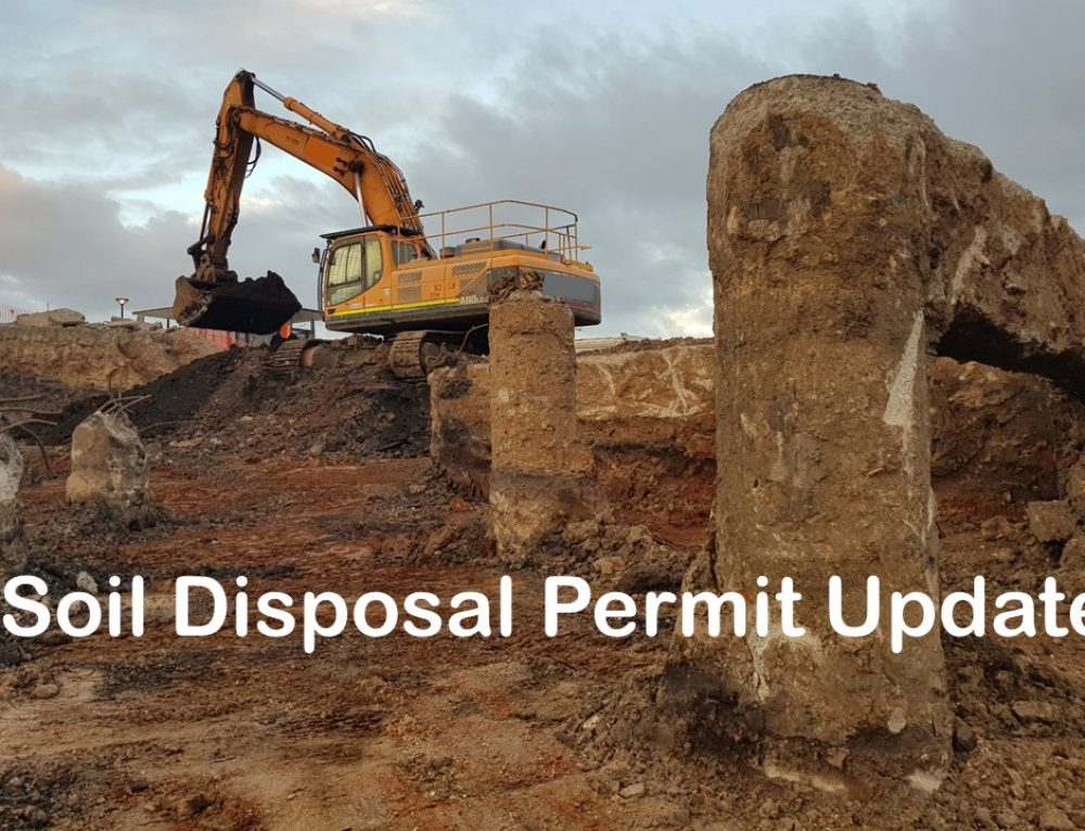 Soil Disposal Permit Update