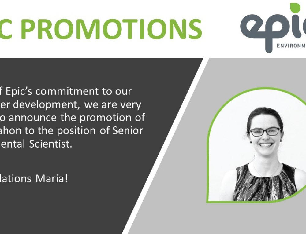 Congratulations Maria on your recent promotion!