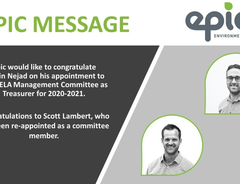 Congratulations to Romin and Scott on their appointment to the QELA management committee