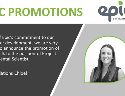 Congratulations, Chloe on your promotion to Project Environmental Scientist