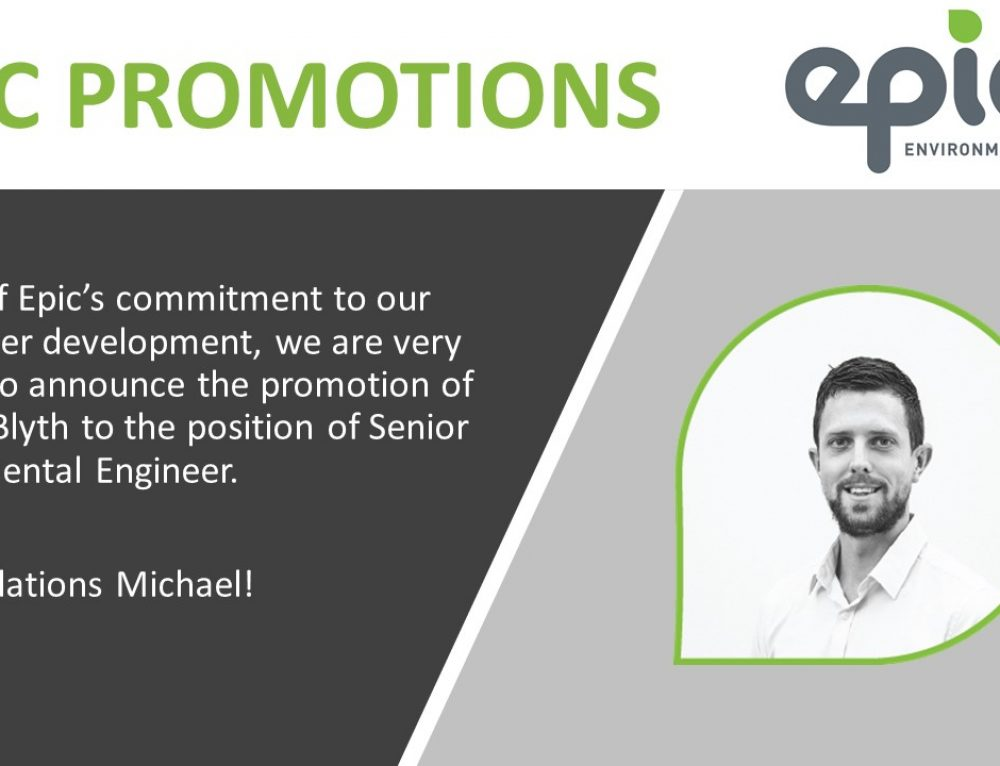 Congratulations on your promotion, Michael Blyth